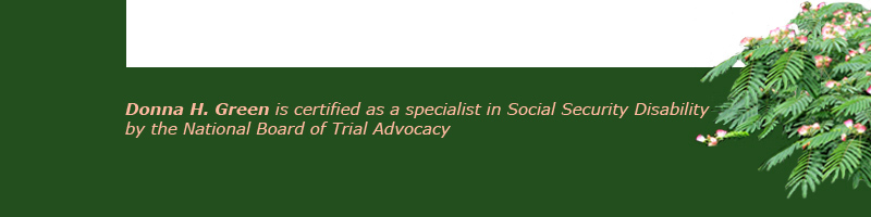 Donna H. Green, Social Security Disability Law
